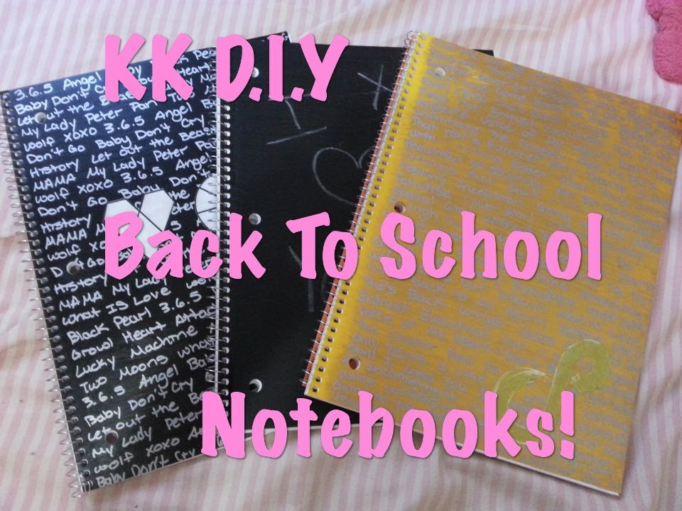 Diy Kpop Book Cover : Kk d i y back to school kpop notebooks youtube