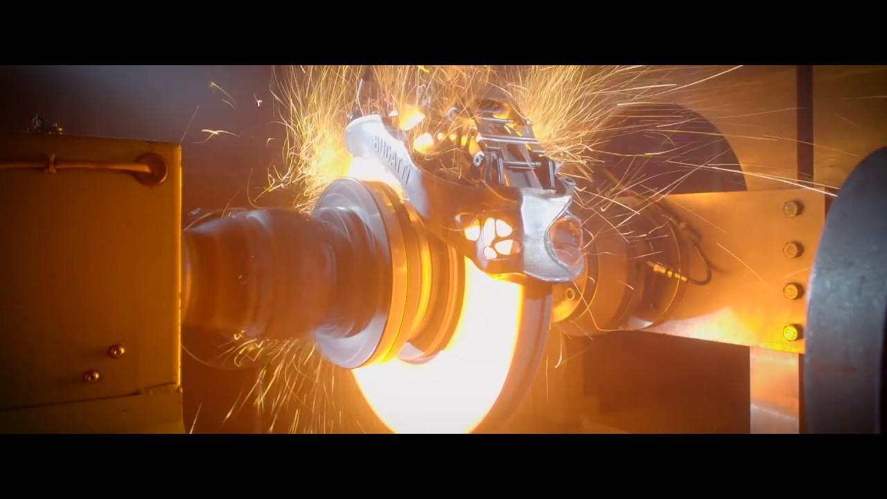BUGATTI CHIRON Titanium caliper brake-test extreme