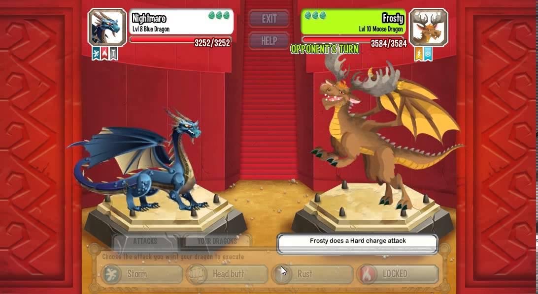Dragon City Blue Dragon Combat Youtube