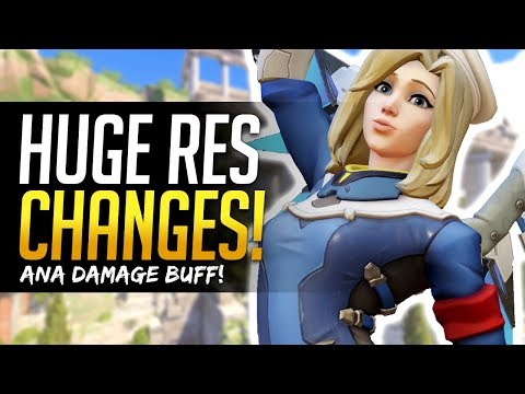 Overwatch MERCY RES NERF & ANA BUFF! PTR Changes and Details!