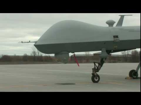 MQ-9 Reaper Takes Off at Fort Drum - Drone Unmanned Aerial Vehicle (UAV)