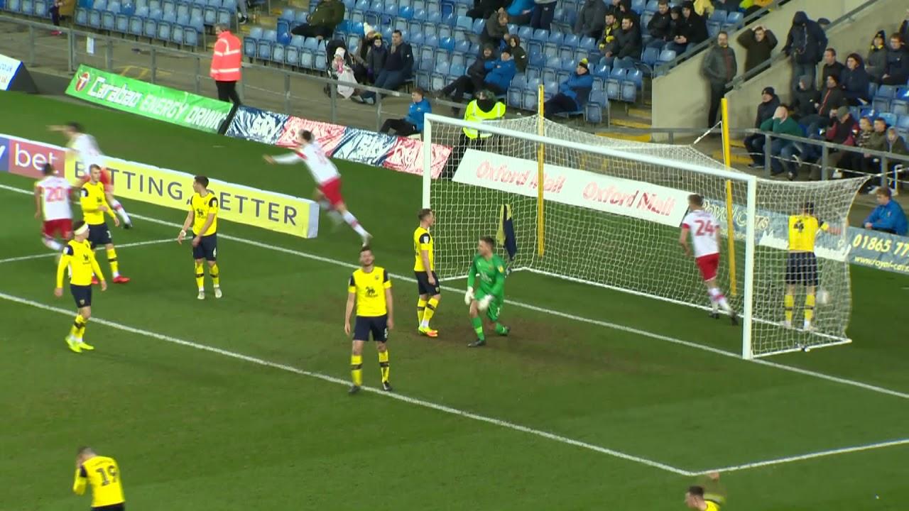 Оксфорд Юнайтед  1-3  Ротерем Юнайтед видео