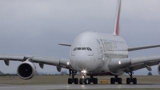 18 Close Up Takeoffs: A380, 777, 787, A330, 757, A321, A320, 737, A319 Manchester Airport