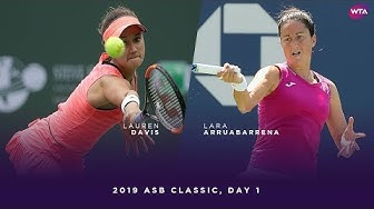 Lauren Davis vs. Lara Arruabarrena | 2019 ASB Classic Day 1 | WTA Highlights