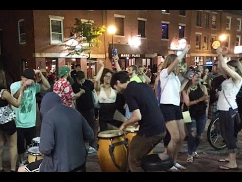 Impromptu Old Port Dance Party in Portland, Maine