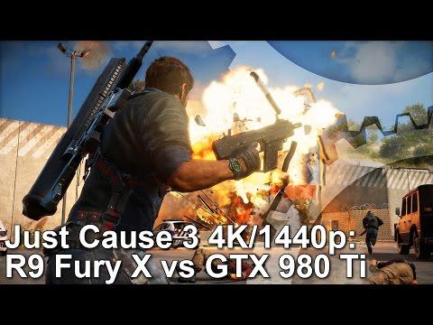 Just Cause 3 PC 4K/1440p GTX 980 Ti vs R9 Fury X Frame-Rate Test