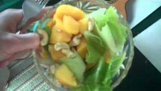 Raw Mango Cashew Salad And Talking Dogs