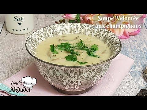 soupe veloutée aux champignons de Paris à la crème