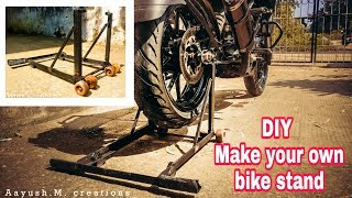 DIY | home made | how to make your own paddock stand, main stand, full stand