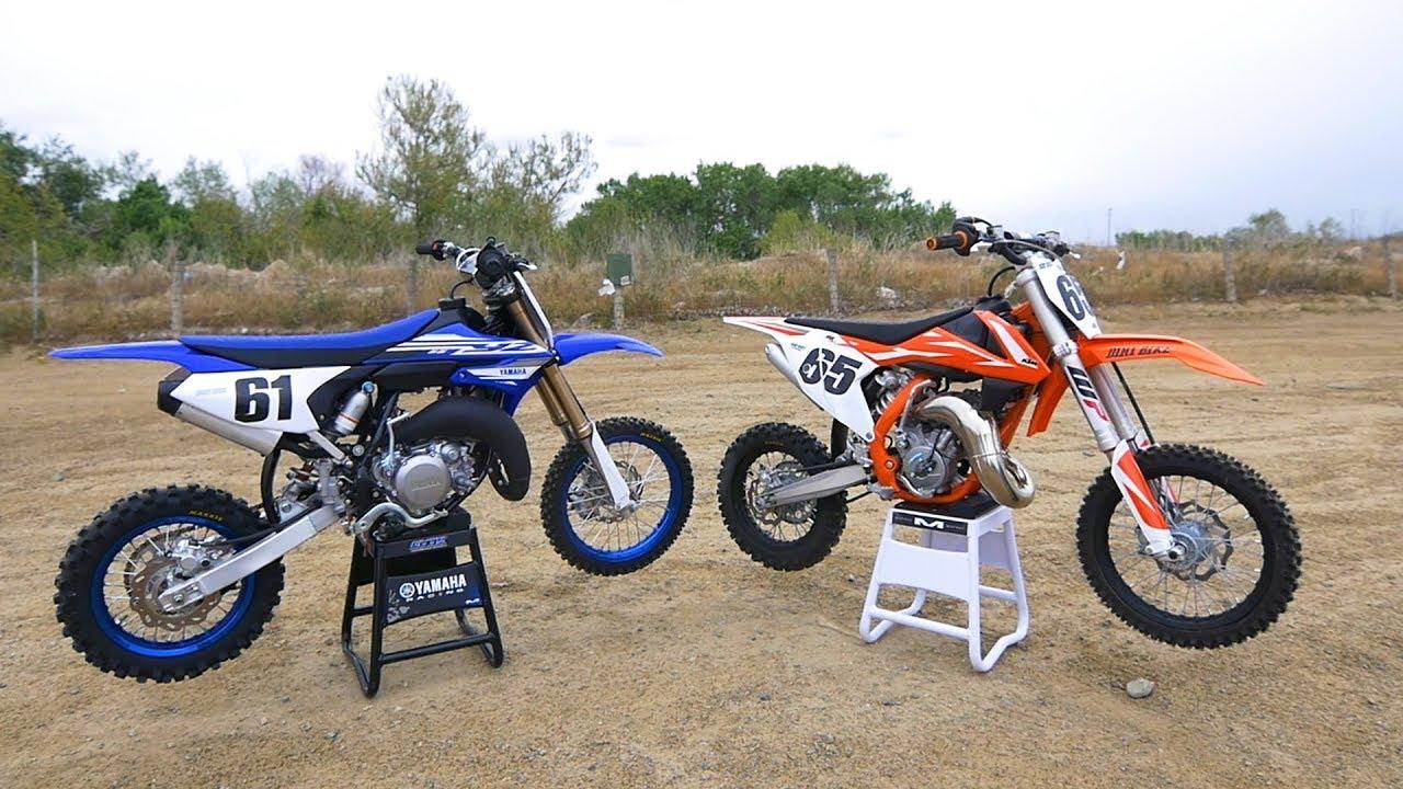 Yamaha Yz65 Versus Ktm 65sx Dirt Bike Magazine Youtube
