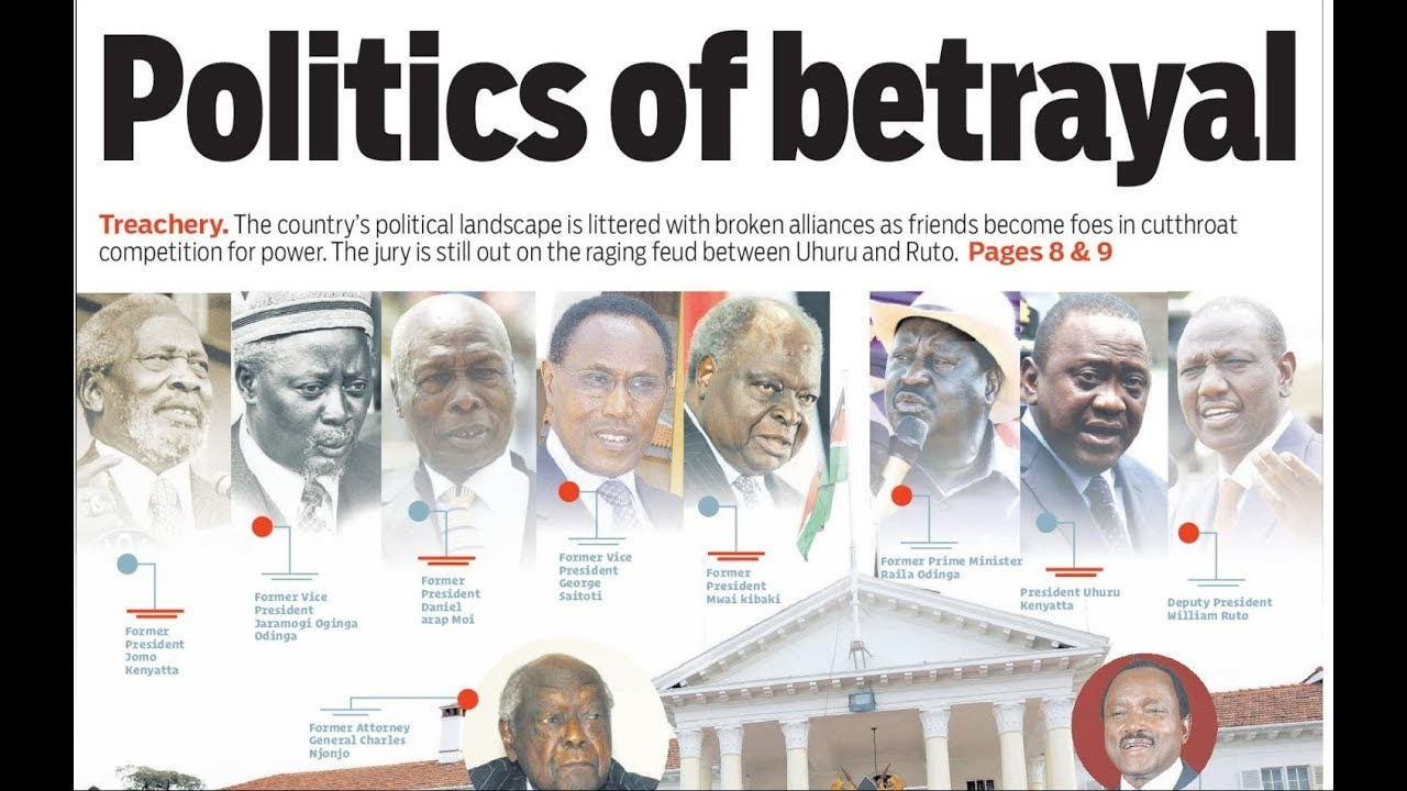 POLITICS OF BETRAYAL:Raging feud between Uhuru and Ruto opens up,close friends have now become foes