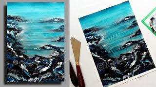 acrylic painting tutorial   palette knife painting   painting demonstration   Landscape painting