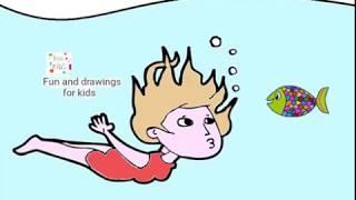 Una Chica Buceando