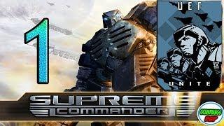 Campaña Supreme Commander 1 | Misión 1 | Operacion Tierra Negra | UEF