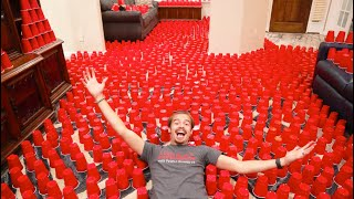 I FILLED My Paręnts House With CUPS!!!