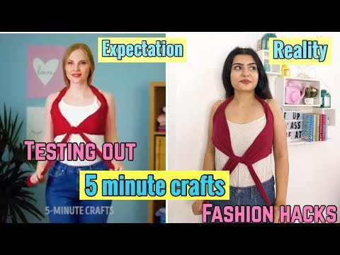 Testing Out VIRAL FASHION HACKS by 5 MINUTE CRAFTS