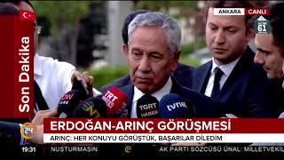 Bülent Arınç, Cumhurbaşkanı Erdoğan ile görüştükten sonra açıklama yaptı