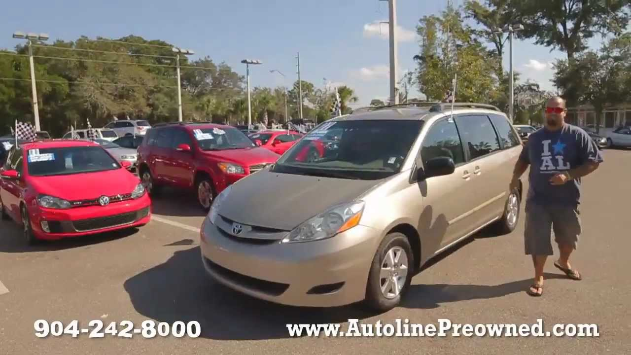 Autoline S 2007 Toyota Sienna Ce Walk Around Review Test Drive