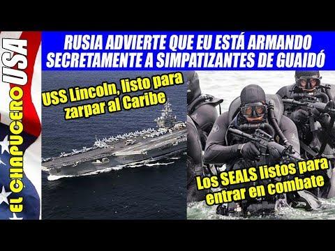 Rusia acusa que llegaron Navy SEALS a Venezuela. Portaaviones en Miami, listo para zarpar