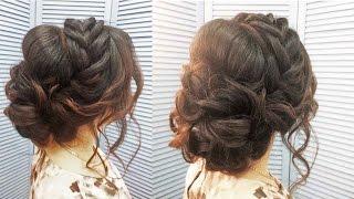 Свадебная прическа,вечерняя,прическа на выпускной. Wedding, evening, prom hairstyle(My second channel with hairstyles: https://www.youtube.com/channel/UC64fI1JL284n5WEVbIfVhXA ..., 2017-01-17T07:54:11.000Z)