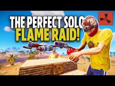 DAY 2! FLAME RAIDING the PERFECT WOODEN BASE! - Rust Solo Survival