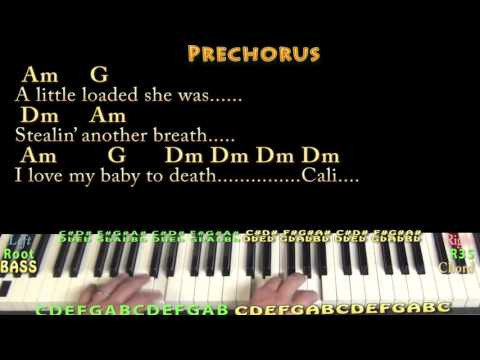 Dani California (RHCP) Piano Cover Lesson in Am with Chords/Lyrics