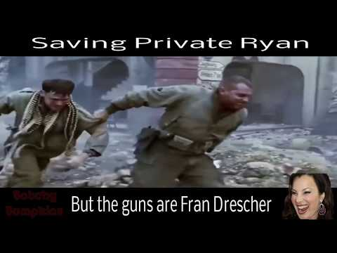 saving private ryan but the guns are fran drescher laughing