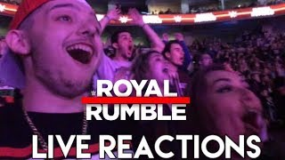WWE ROYAL RUMBLE 2018 Men's and Women's LIVE REACTIONS