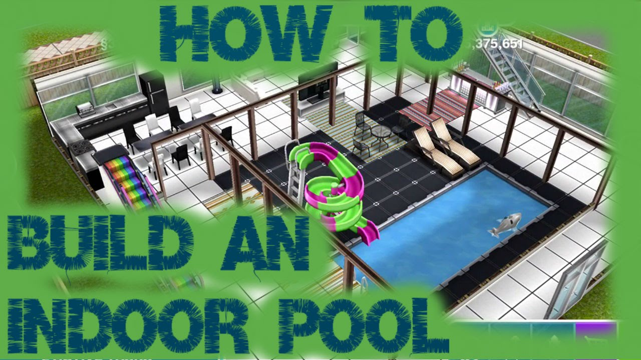Sims freeplay how to build an indoor pool youtube for Build your pool