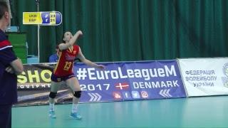 Волейбол, Евролига. Украина - Испания. Первый полуфинал. 28.06.2017. Онлайн трансляция