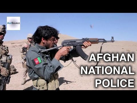 US Marines Train Afghan National Police