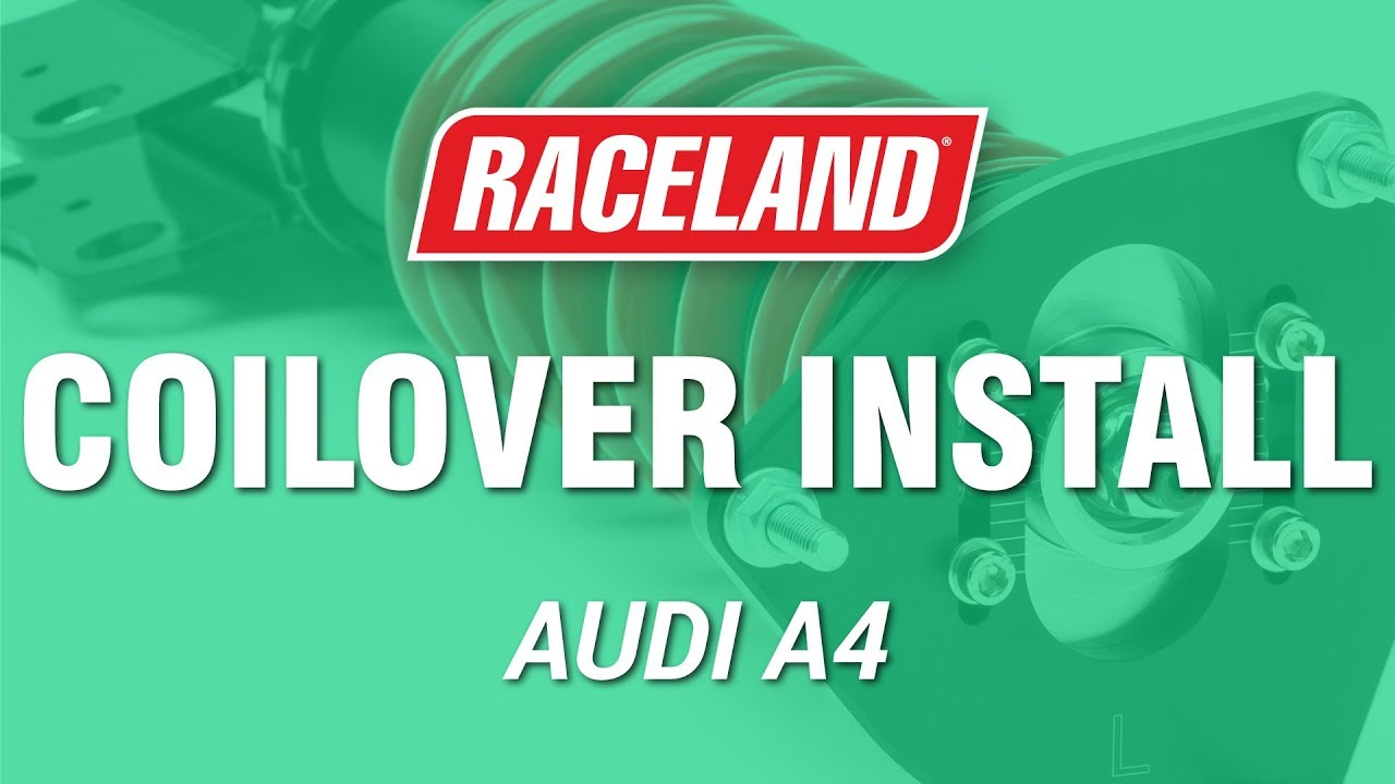 how to install raceland audi a4 b6 coilovers youtube. Black Bedroom Furniture Sets. Home Design Ideas