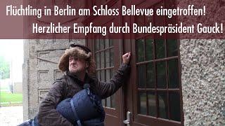 Erster Flüchtling in Berlin am Schloss Bellevue eingetroffen!