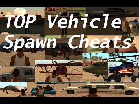 GTA San Andreas Vehicle Cheats - ALL Vehicle Spawn Cheats