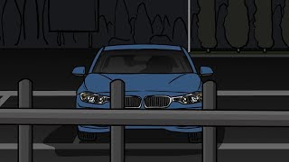 Empty Dark Parking lot Horror Story Animated