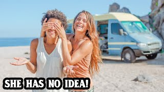 VANLIFE SURPRISE | Is ROMANCE possible after 1 YEAR ON THE ROAD?