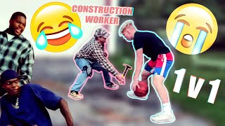 1 ON 1 vs Construction Worker!