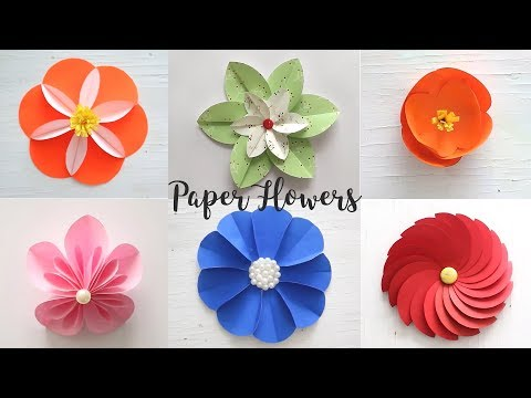 6 Easy Paper Flowers | Craft Ideas | DIY Flowers