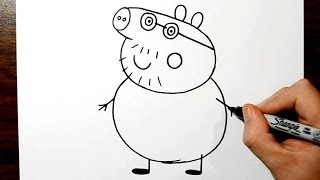 How to Draw Daddy Pig - Percy (Percington) Pig
