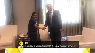 Amid tensions Pak MP talks of friendship; meets Sushma Swaraj