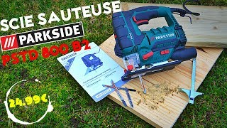 Parkside Scie Sauteuse Pendulaire Pstd 800 B1 Scie à Chantourner Laser Et