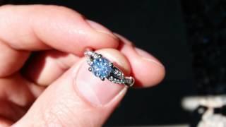 James Allen Engagement Ring Diamond w Strong Blue Fluorescence
