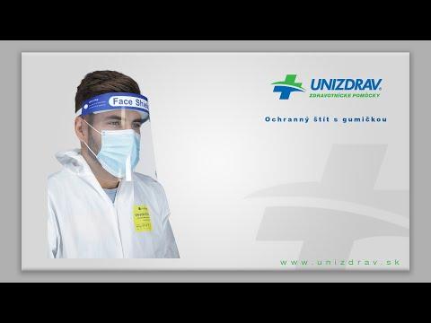 Ochranný štít s gumičkou - VIDEOMANUÁL
