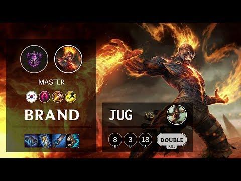 Brand Jungle Vs Nidalee - KR Master Patch 10.7