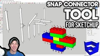 EASY OBJECT ASSEMBLY with The Snap Connector Extension for SketchUp