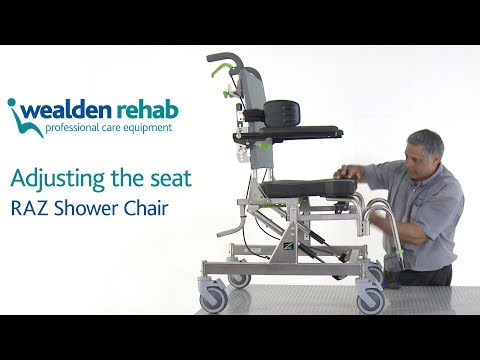 RAZ Shower Chair Adjusting the Seat YouTube