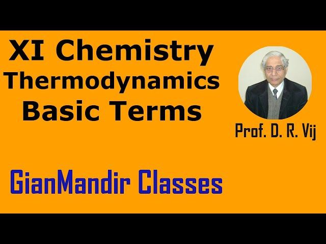 XI Chemistry - Thermodynamics - Basic Terms of Thermodynamics by Ruchi Mam