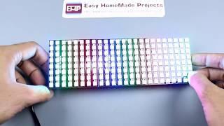 How to Make RGB Scrolling Text Display Using NeoPixel Matrix