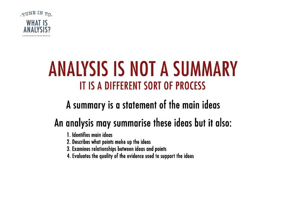 What Is Analysis? - Youtube