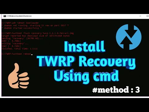 How to install twrp recovery using cmd ? (for both root and non root device)